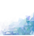 blue geometric triangle polygon background vector image