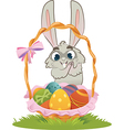 Bunny With Easter Eggs vector image vector image