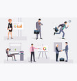 business people at work businessmen taking part vector image vector image