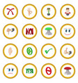 check mark yes and no icon circle vector image
