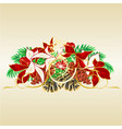christmas and new year decorative spruce branches vector image vector image