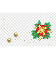 christmas new year greeting card background vector image