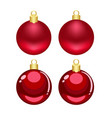 christmas red cartoon and mesh ornaments vector image vector image