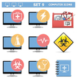 Computer Icons Set 9 vector image vector image