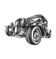 custom hot rod hand drawn vector image vector image