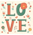 Cute Valentines day card vector image