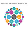 digital transformation infographic circle concept vector image vector image