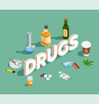 drugs isometric composition vector image