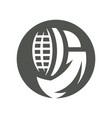 fencing helmet silhouette sign vector image vector image