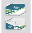 Fitness Center Business Card Set vector image vector image