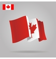 Flat and waving Canadian Flag vector image vector image