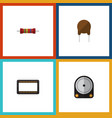 flat icon appliance set of hdd mainframe vector image vector image