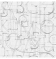 Font Antiqua Pattern vector image vector image