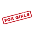 For Girls Text Rubber Stamp vector image vector image