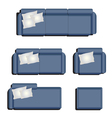Furniture top view set 32 vector image vector image