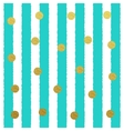 Gold glitter dots seamless pattern with vector image vector image