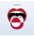 Greenland language Abstract human tongue vector image