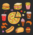 hand drawn fast food vector image