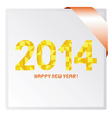 Happy new year 2014 card3 vector image vector image