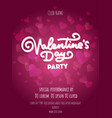 happy valentines day party poster design template vector image vector image