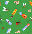 harmful insects and insecticides seamless pattern vector image