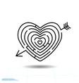 heart maze arrow heart icon love sign valentines vector image