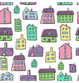 house seamless pattern fun colorful houses vector image vector image