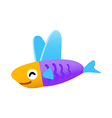 icon flying fish vector image vector image