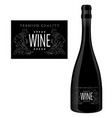 label for a bottle wine vector image vector image