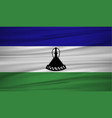 lesotho flag flag of lesotho blowig in the wind vector image