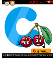 letter c with cherry cartoon vector image vector image