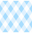 light blue argyle seamless pattern background vector image