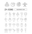 line icons valentines day vector image vector image