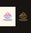 Lotus line flower logo design