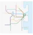 map rail network australian city sydney vector image