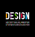 modern style font alphabet letters and numbers vector image vector image