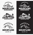 mountains logo badge 1 vector image vector image