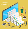 online survey flat isometric concept vector image vector image