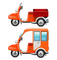orange scooters set 2 vector image