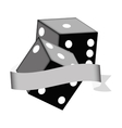 pair of dices icon vector image