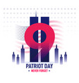 patriot day banner vector image
