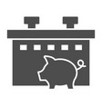 pig farm solid icon animal vector image vector image