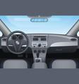 realistic dark vehicle car interior vector image vector image