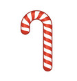 Red Candy Cane Isolated on White Background vector image