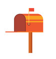 retro vinatge styed mail box vector image vector image
