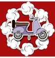 scooter pop art design vector image vector image