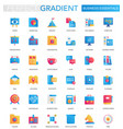set of trendy flat gradient business vector image vector image