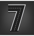 Seven number Road font vector image vector image
