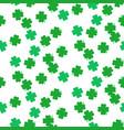 shamrock green foliage seamless pattern vector image vector image