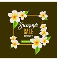 Summer Sale promotional poster with flowers vector image vector image